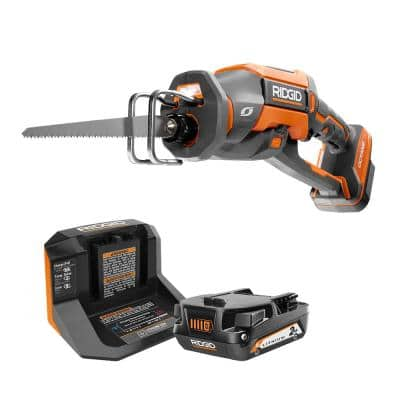 18V OCTANE Brushless Cordless One-Handed Recip Saw Kit with Blade, (1) 2.0 Ah Battery and Charger