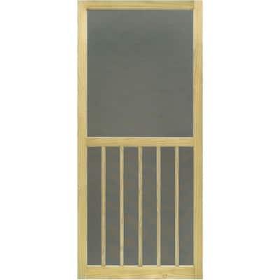 36 in. x 80 in. 5-Bar Premium Stainable Screen Door