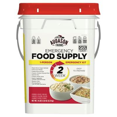 4 Gal. Pail 2-Week 1-Person Emergency Food Supply Evacuation Pail 9 Varieties 25-Year Shelf Life