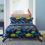 Dino 2-Piece Blue Twin Comforter Set