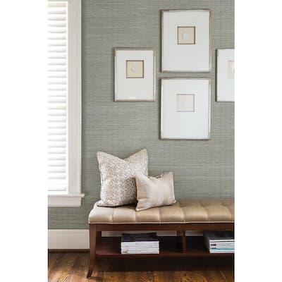 Barbora Aqua Grasscloth Peelable Roll Wallpaper (Covers 72 sq. ft.)