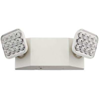 Contractor Select EU2C 120/277-Volt Integrated LED White Emergency Light Fixture with Battery