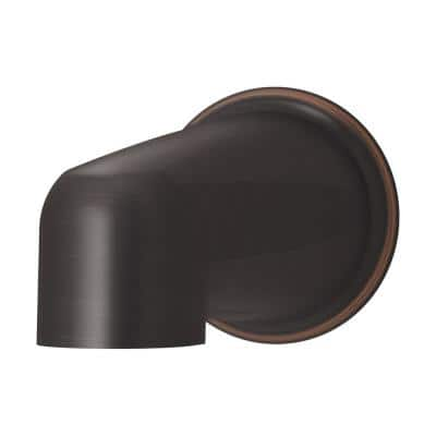 Elm Non-Diverter Tub Spout in Seasoned Bronze