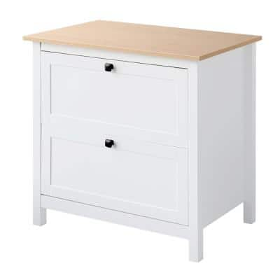 30 in. W x 30 in. H x 20 in. D White 2 Drawer Decorative Lateral File Cabinet