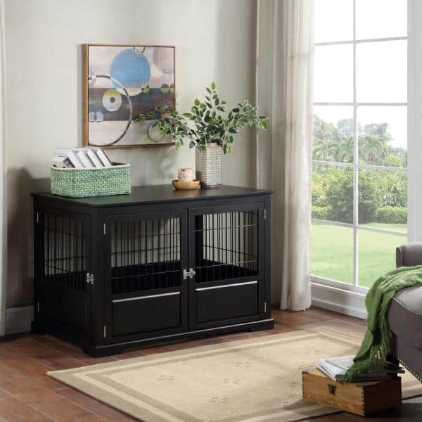 Zoovilla Black Fairview Triple Door Dog Crate Large Pth1082021700 The Home Depot