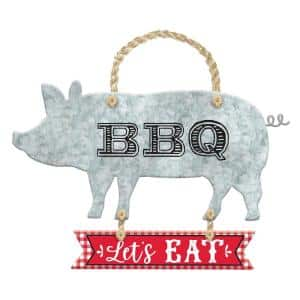 15 in. Metal Summer BBQ Hanging Sign (3-Pack)