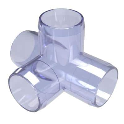 1 in. Furniture Grade PVC 4-Way Tee in Clear