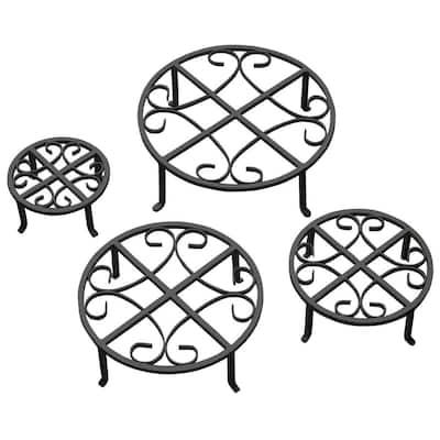 Black Iron Plant Stand (Set of 4)