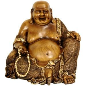 10 in. Sitting Hotei Happy Buddha Decorative Statue
