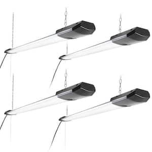 4 ft. LED 100-Watt (300-Watt Equivalent) 10,000 Lumens 4000K Garage Lighting Shop Light, Silver (4-Pack)