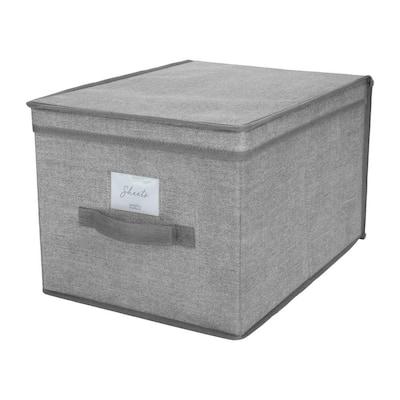 Large Storage Box in Heather Grey