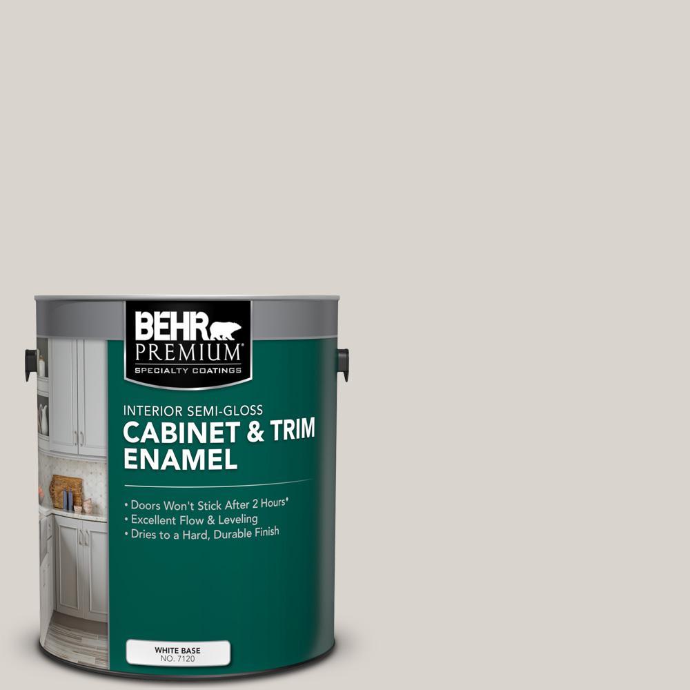 1 gal. #MS-88 Pearl Gray Semi-Gloss Enamel Interior Cabinet and Trim Paint