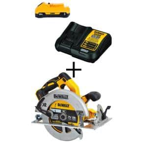 20-Volt MAX XR Cordless Brushless 7-1/4 in. Circular Saw with (1) 20-Volt Battery 3.0Ah & Charger