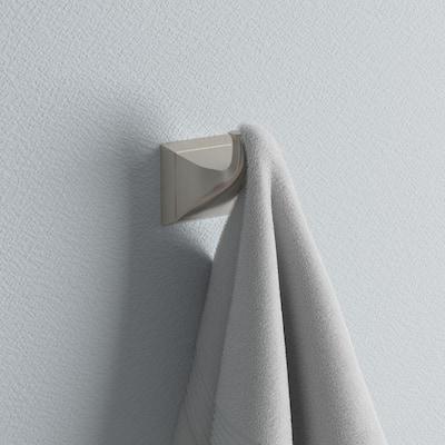Everly Single Towel Hook in Brushed Nickel