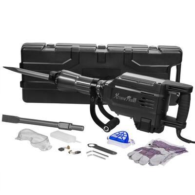 2800-Watt 27 in. Heavy-Duty Electric Jack Hammer Demolition Concrete Breaker Tool Kit