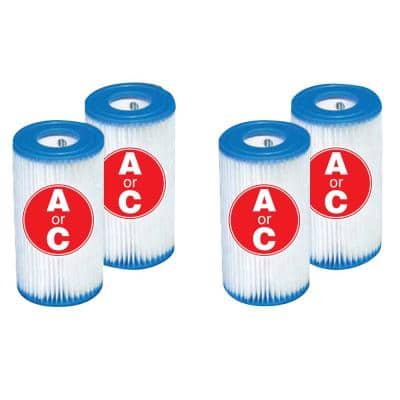 4.25 in. Dia 13.5 sq. ft.  Type A or C Pool Replacement Filter Cartridge (4-Pack)