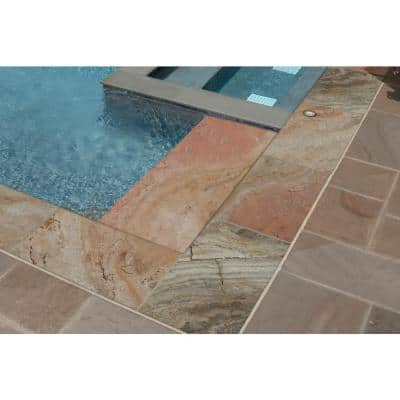 Porcini 12 in. x 24 in. Gold Travertine Pool Coping (15 Pieces / 30 Sq. Ft. / Pallet)