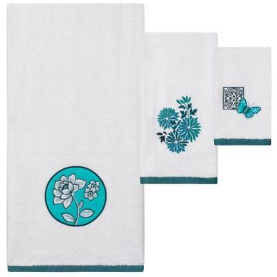 Ming Multi Colored 3-Piece Towel Set