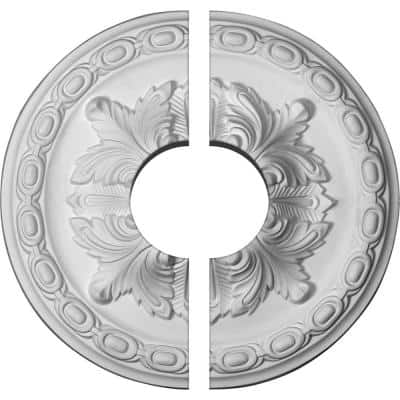 11-3/8 in. x 3-1/2 in. x 2 in. Acanthus Urethane Ceiling Medallion, 2-Piece (Fits Canopies up to 3-1/2 in.)