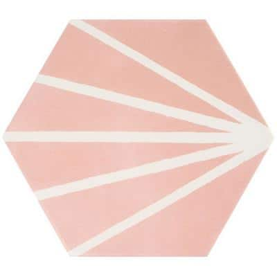 Eclipse Ray Blush 7.79 in. x 8.98 in. Matte Porcelain Floor and Wall Tile (6.03 sq. ft. / Case)