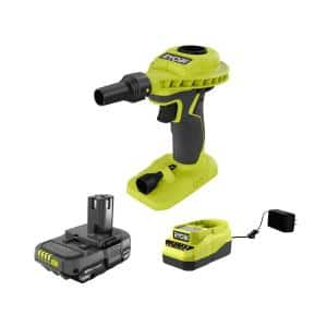 ONE+ 18V Lithium-Ion Cordless High Volume Power Inflator Kit with 1.3 Ah Battery and 18V Charger