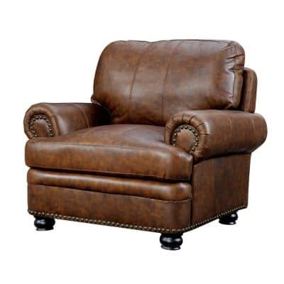 Rheinhardt Brown Transitional Style Living Room Chair