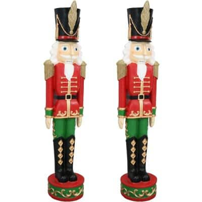37 in. Kristoff the Nutcracker Soldier Christmas Decor (Set of 2)