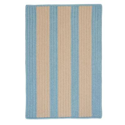 Boat House Light Blue 2 ft. x 8 ft. Braided Area Rug
