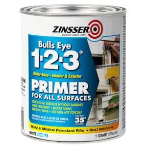 Bulls Eye 1-2-3 1 qt. White Water-Based Interior/Exterior Primer and Sealer (6-Pack)