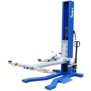 Mobile Single Column Lift 6,000 lbs. Capacity Heavy Duty Model With Stackable Extensions included