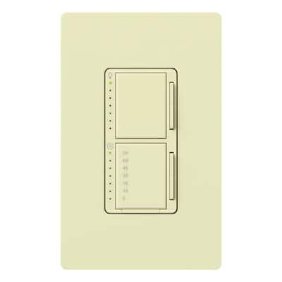 Maestro 300-Watt Single-Pole Digital Dimmer and Timer Switch - Almond