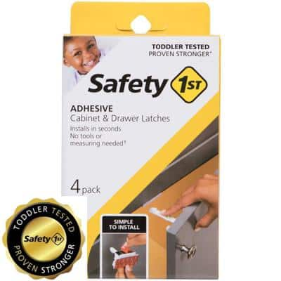 Adhesive Cabinet Latch (4-Pack)