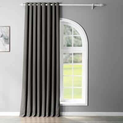 Anthracite Grey Grommet Blackout Curtain - 100 in. W x 120 in. L
