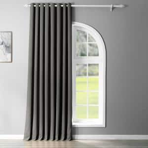 Anthracite Grey Grommet Blackout Curtain - 100 in. W x 96 in. L