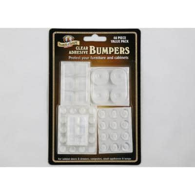 Clear Adhesive Bumpers (48-Piece Value Pack)