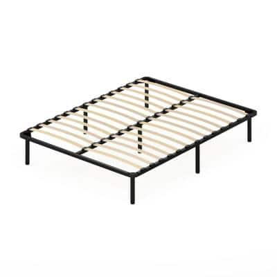 Angeland Cannet Queen Wood Slats Metal Bed Frame