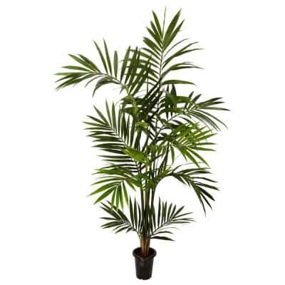 6 ft. Green Kenitia Palm Silk Tree