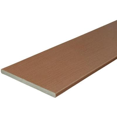 3/4 in. x 11-1/4 in. x 12 ft. Cabin Capped Composite Fascia Decking Board