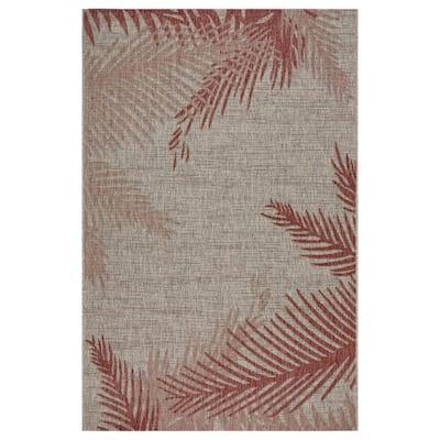 Captiva Red / Beige 7 ft. 9 in. x 9 ft. 5 in. Rectangle Indoor/Outdoor Area Rug