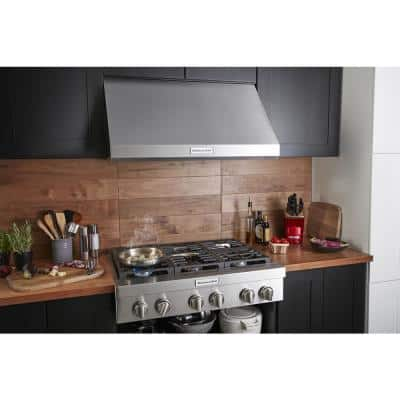36 in. Commercial-Style Wall-Mount Canopy Range Hood with LED Light in Stainless Steel