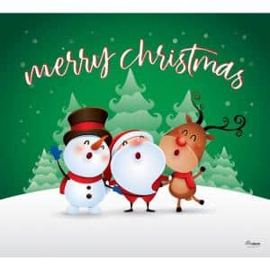 7 ft. x 8 ft. Christmas Characters Merry Christmas-Christmas Garage Door Decor Mural for Single Car Garage