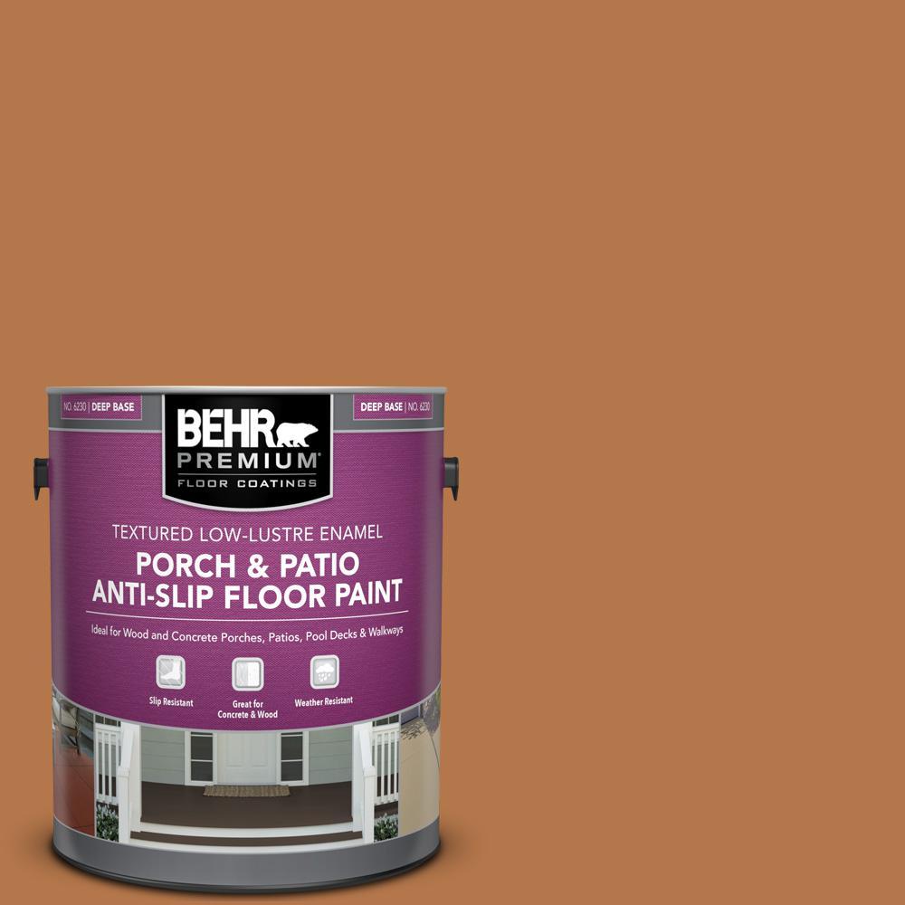 1 gal. #SC-533 Cedar Naturaltone Textured Low-Lustre Enamel Interior/Exterior Porch and Patio Anti-Slip Floor Paint