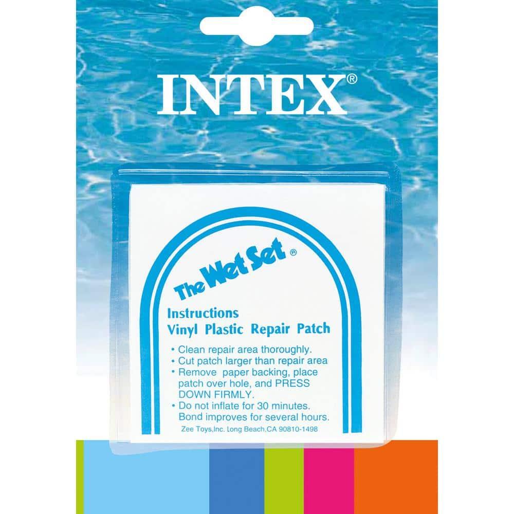 "INTEX Vinyl Swimming Pool Patch 11""x 9.5"" Repair Above Ground"