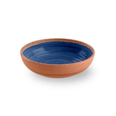 Rustic Swirl Indigo Melamine Bowl (Set of 6)