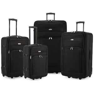 Cedar 4-Piece Black Softside Lightweight Rolling Luggage Set