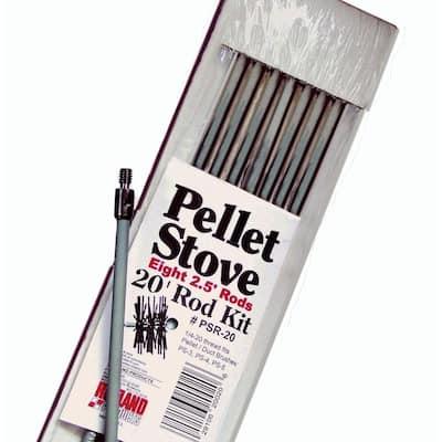 20 ft. Pellet Stove Brush Extension Rod Kit