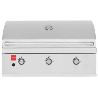 Premium 36 in. 3-Burner Built-In Propane Gas Grill in 304 Stainless Steel