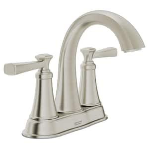 Rumson 4 in. Centerset 2-Handle Bathroom Faucet in Brushed Nickel