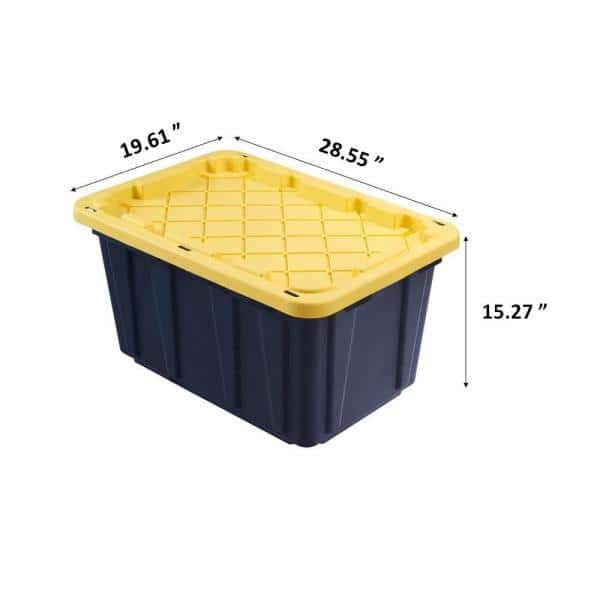 tote storage boxes hard plastic