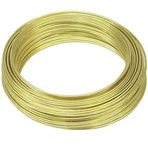 75 ft. 5 lb. 22-Gauge Brass Hobby Wire